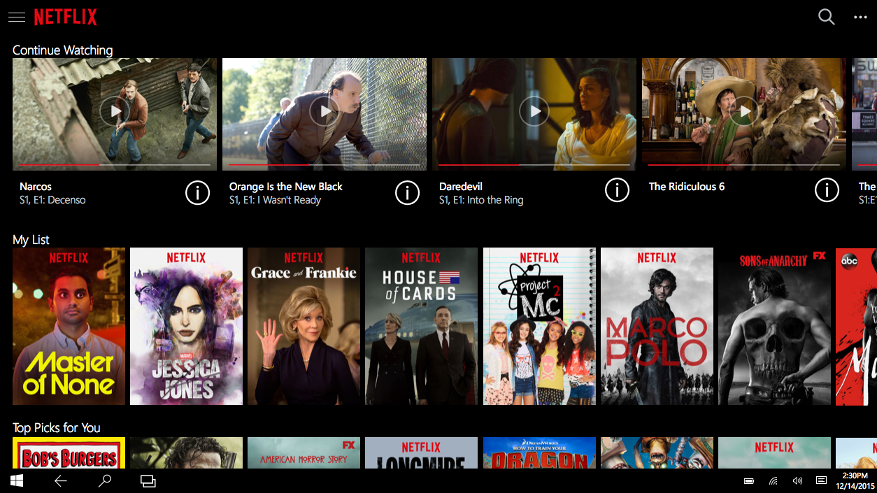 Netflix Windows App