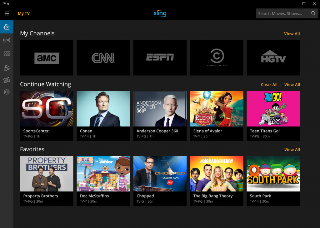 Image result for Sling TV app