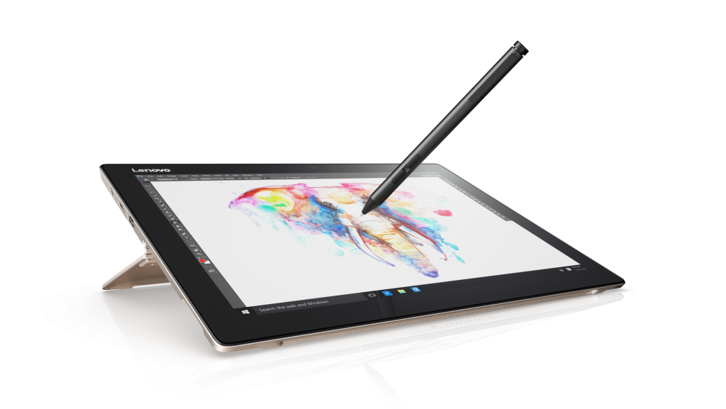 The Lenovo Miix 720 Detachable with Lenovo Active Pen 2