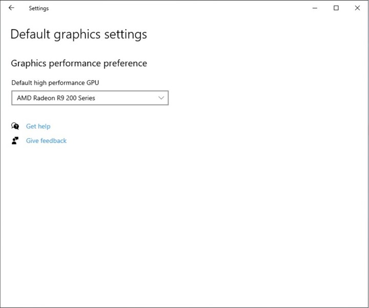 improved Graphics Settings - specify default high-performance GPU