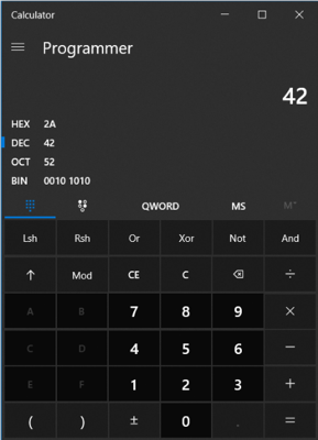 Image of Windows Calculator