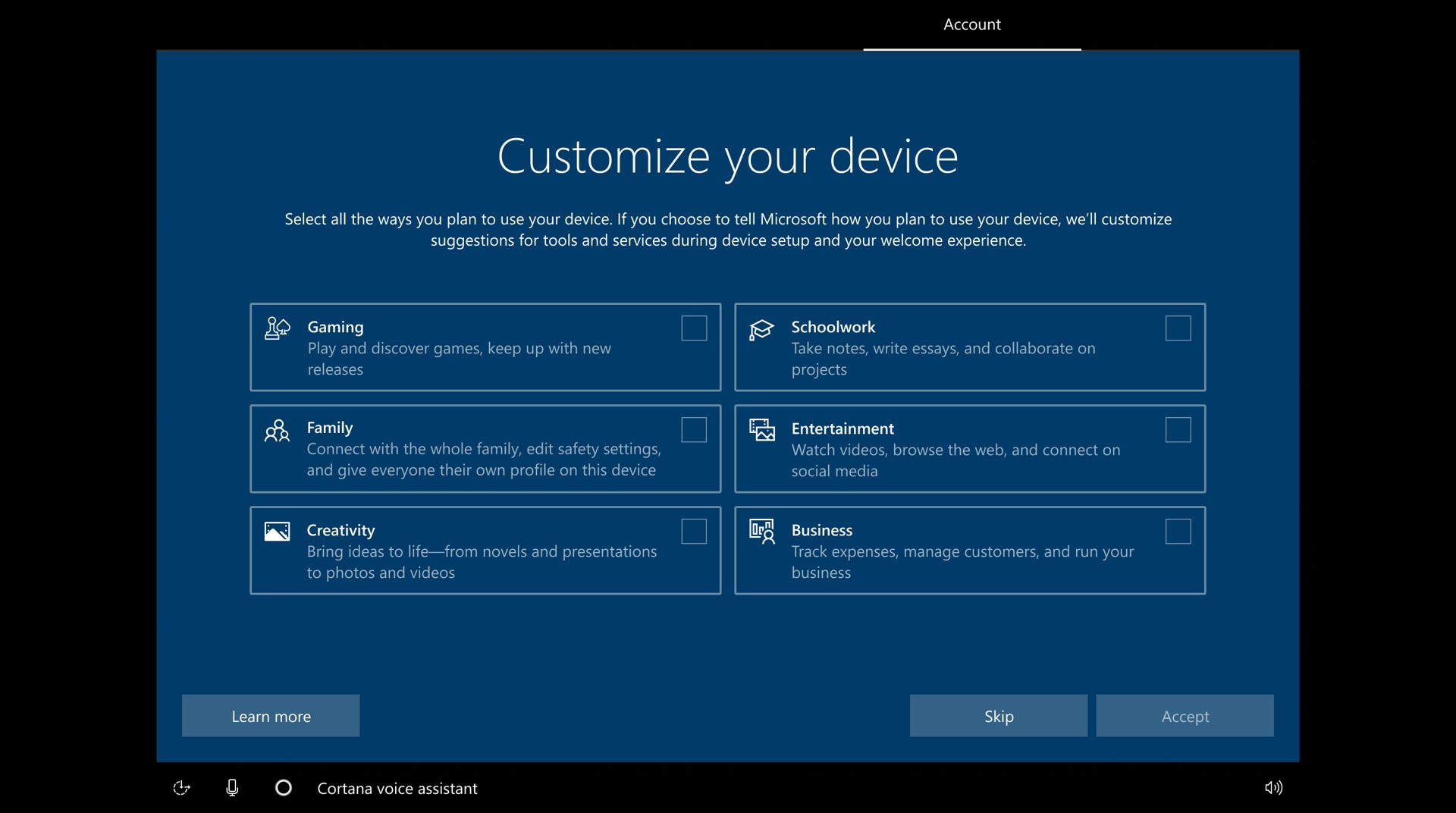 Windows 10 Insider Preview Build 20231  Intent