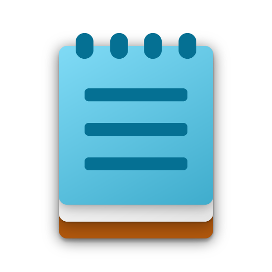 New Notepad app icon.