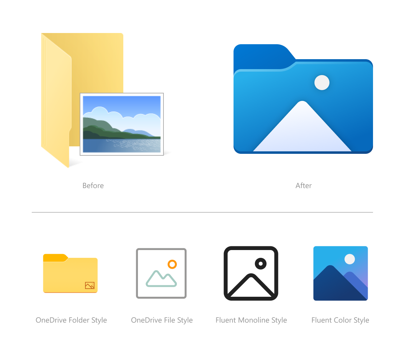 Before and after Photos icons in File Explorer.