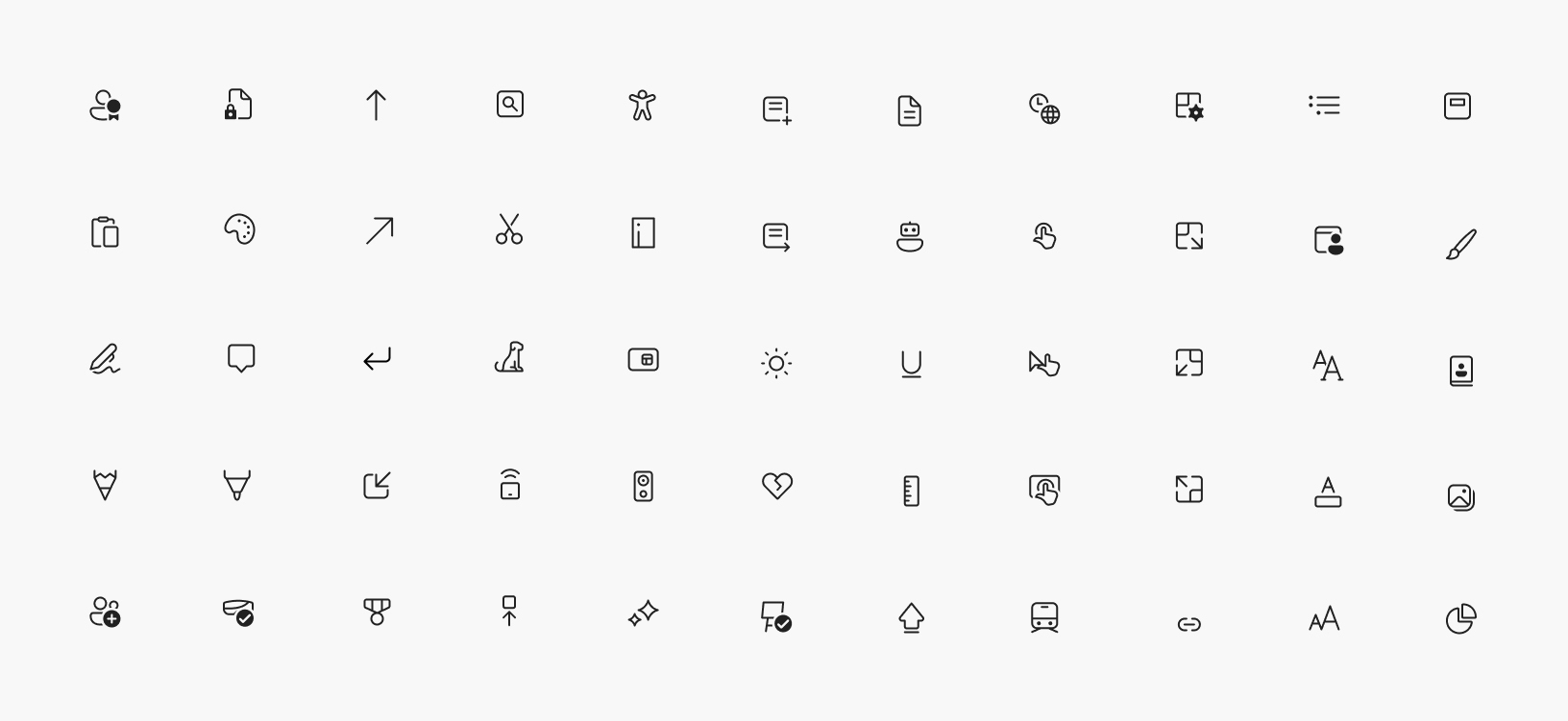 The new Segoe Fluent Icons font includes new icon designs which have a more rounded and simplified look and feel.