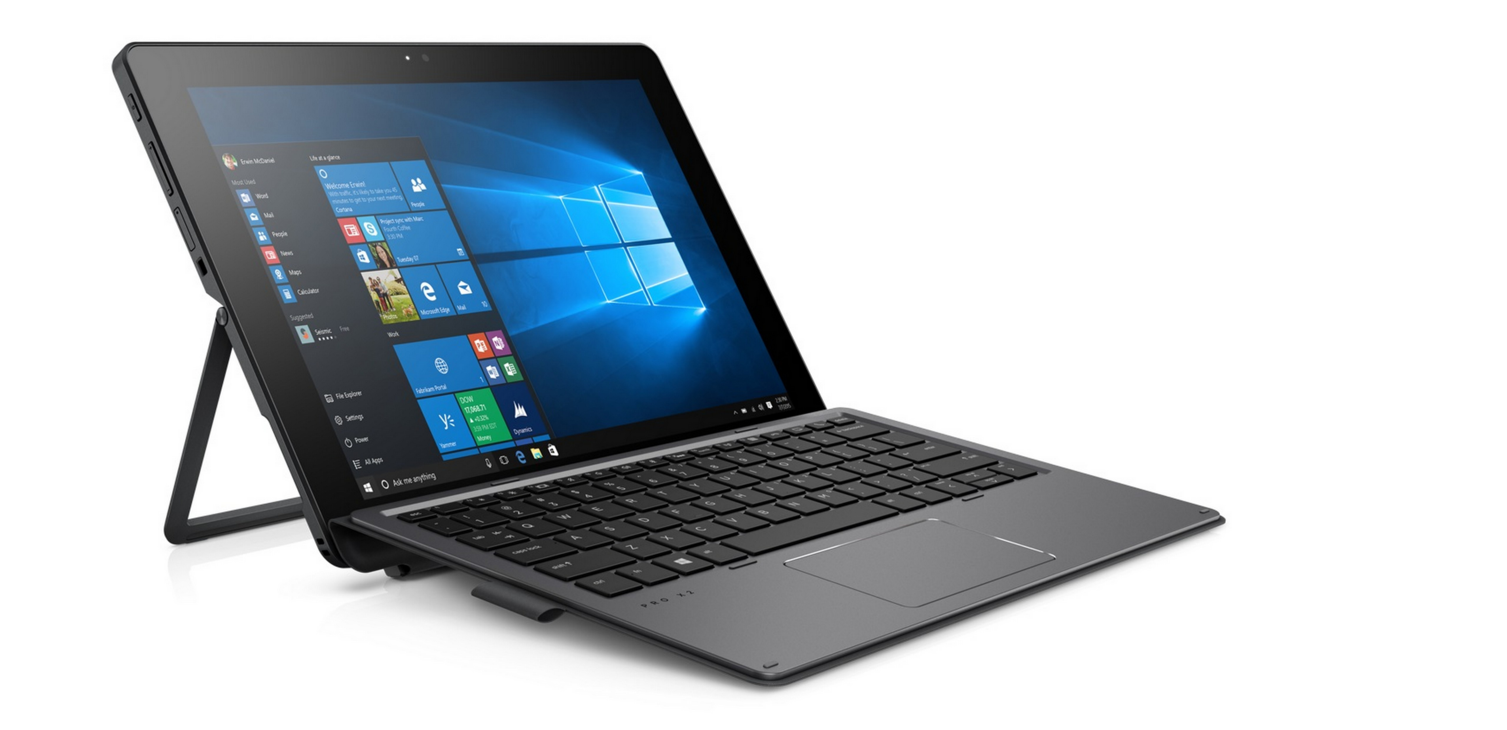 The HP Pro x2 512 G2 with Windows 10